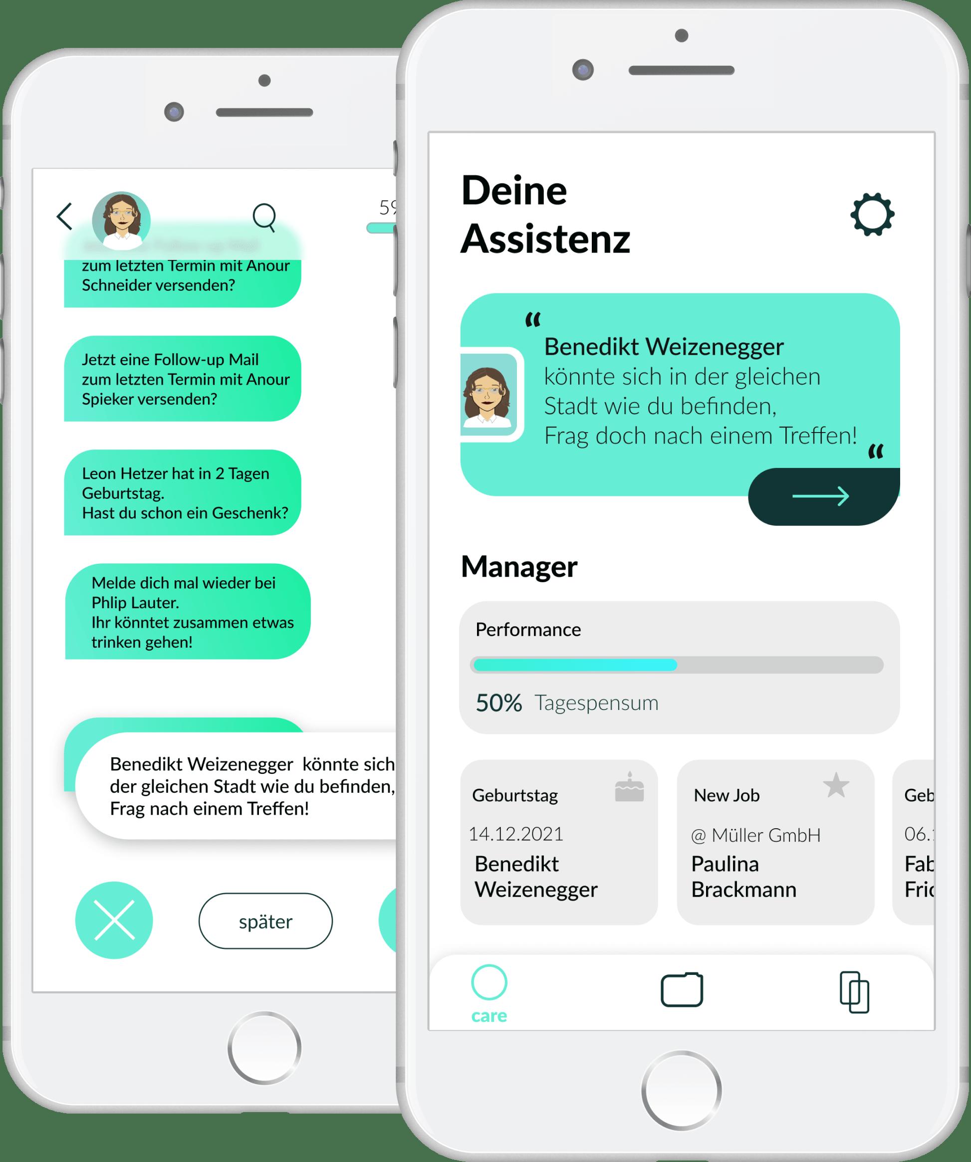 App für Kontakthalten